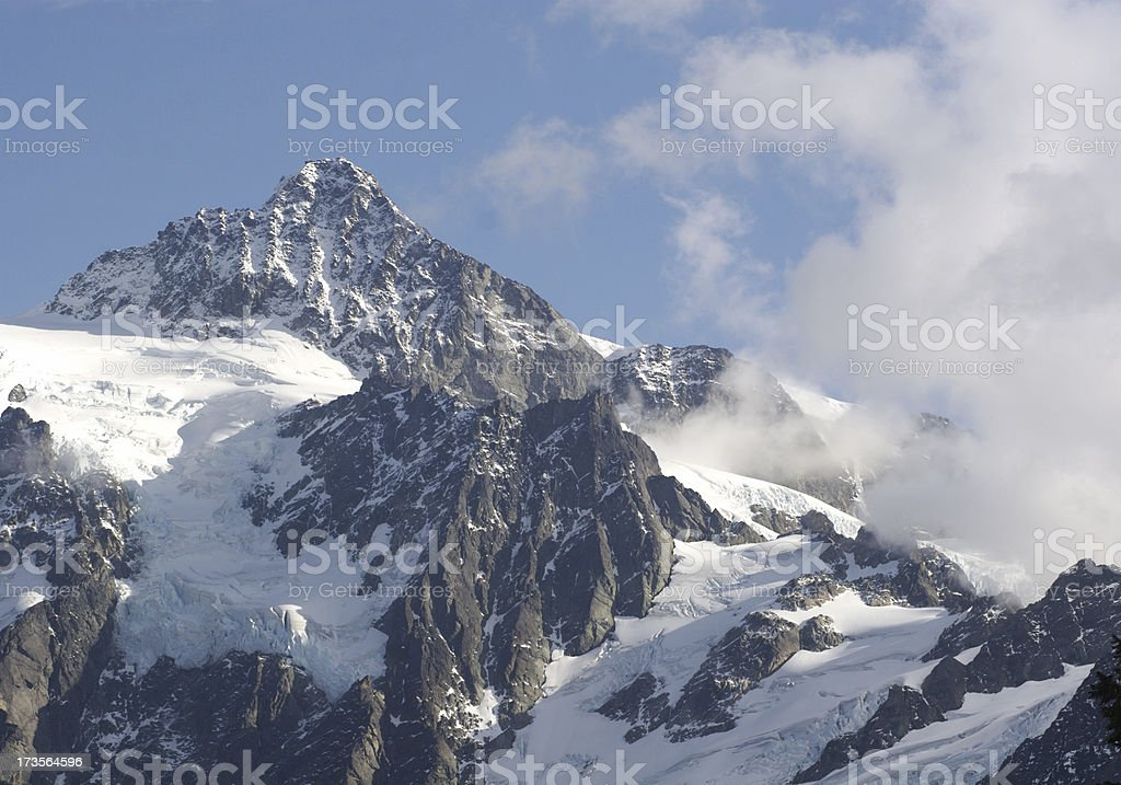Mountain Peak In Fresh Snow royalty-free stock photo