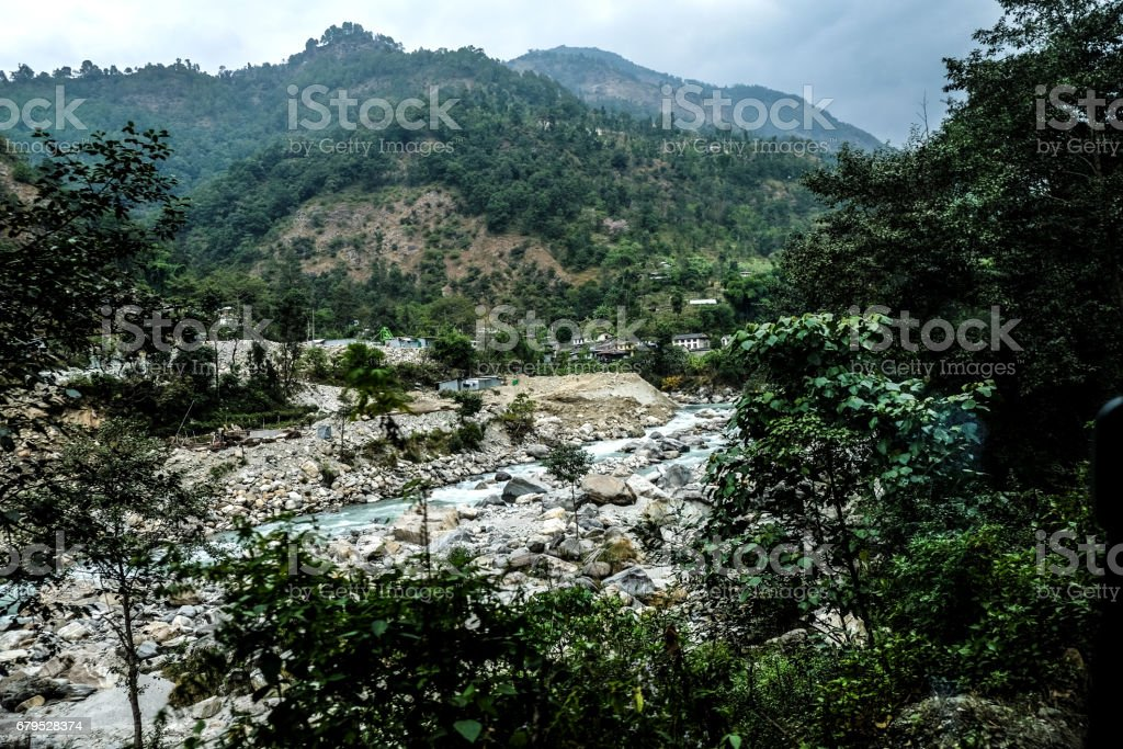 Mountain peak in Nepal Himalaya royalty-free stock photo