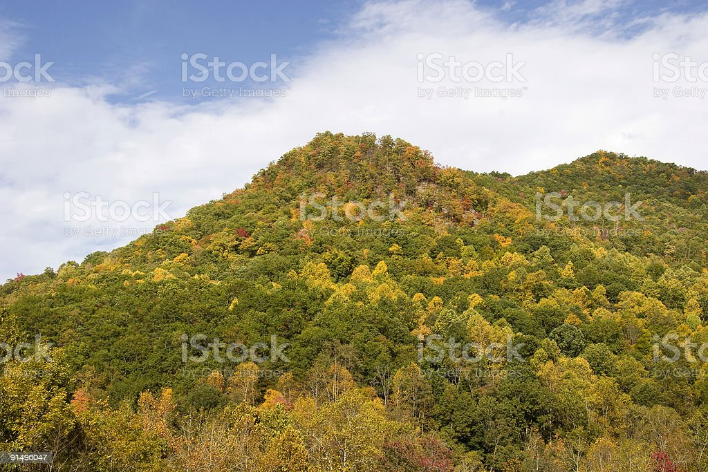 Mountain Peak in the Fall royalty-free stock photo
