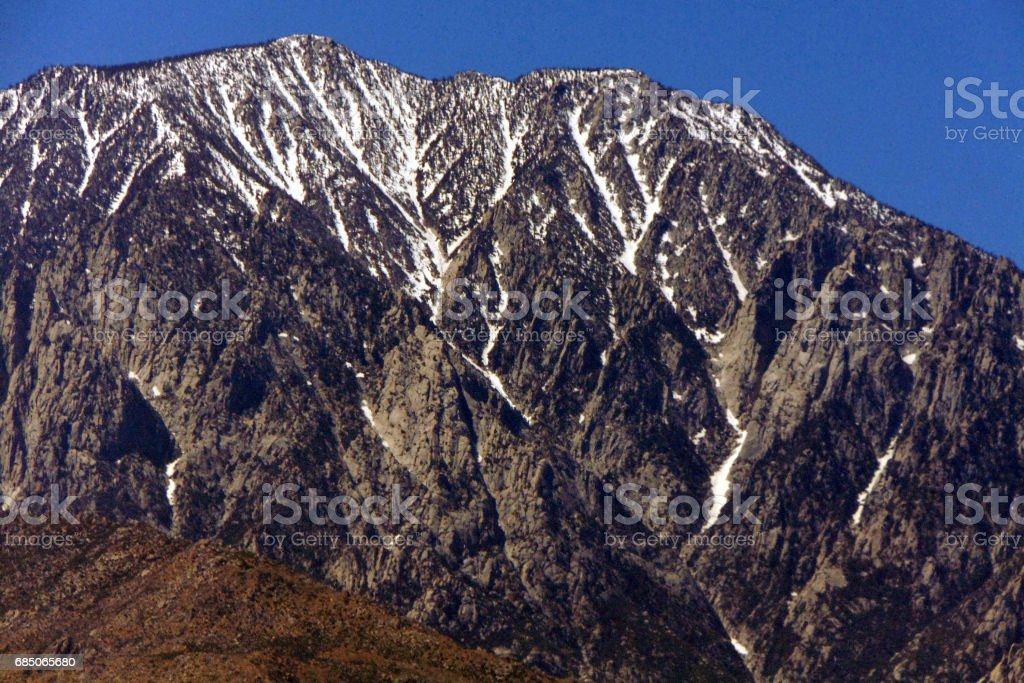 A Mountain Peak in the High Desert royalty-free stock photo