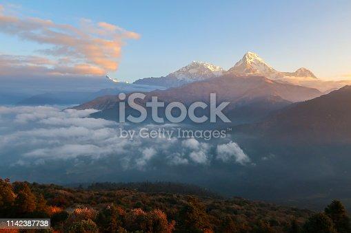 istock Mountain peak of Himalaya 1142387738