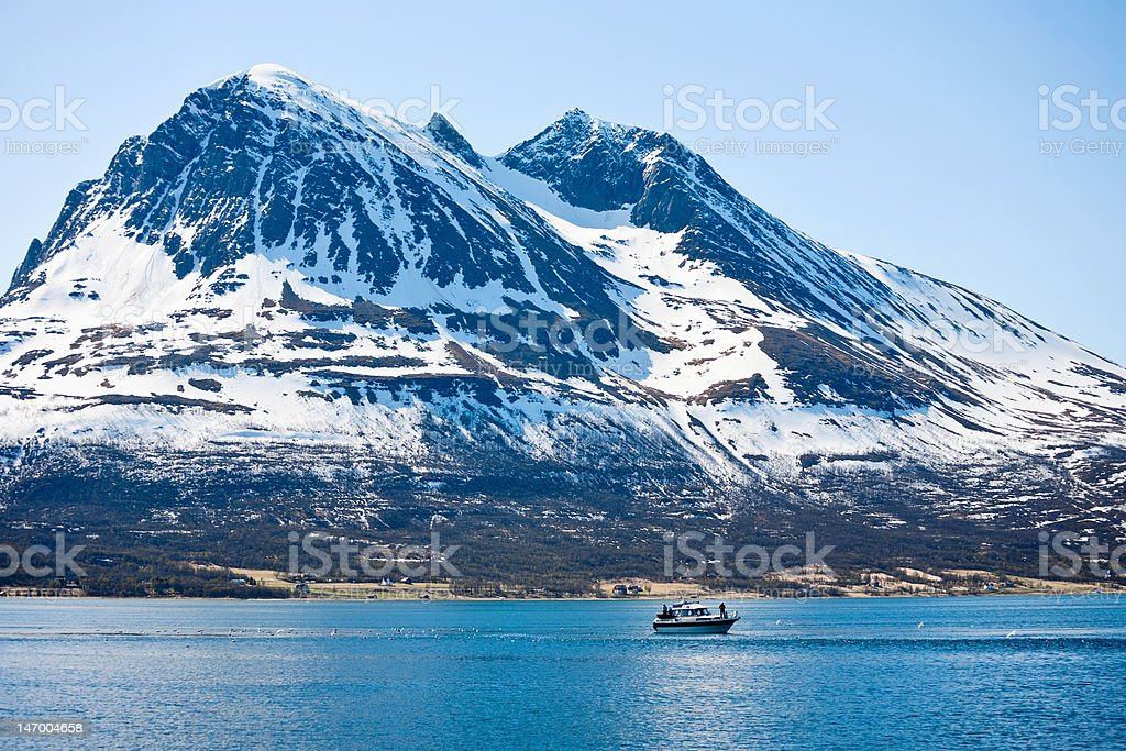 Mountain peak royalty-free stock photo