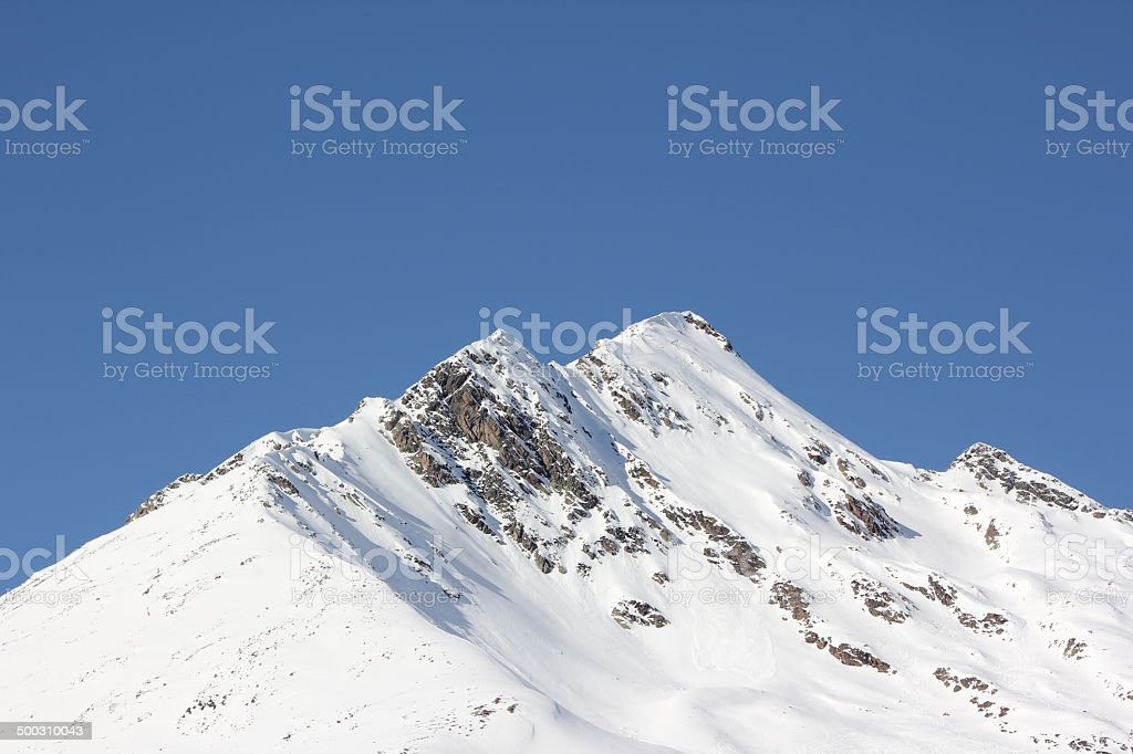 Mountain Peak Pirchkogel during Winter Season, Kühtai, Tirol, Austria stock photo