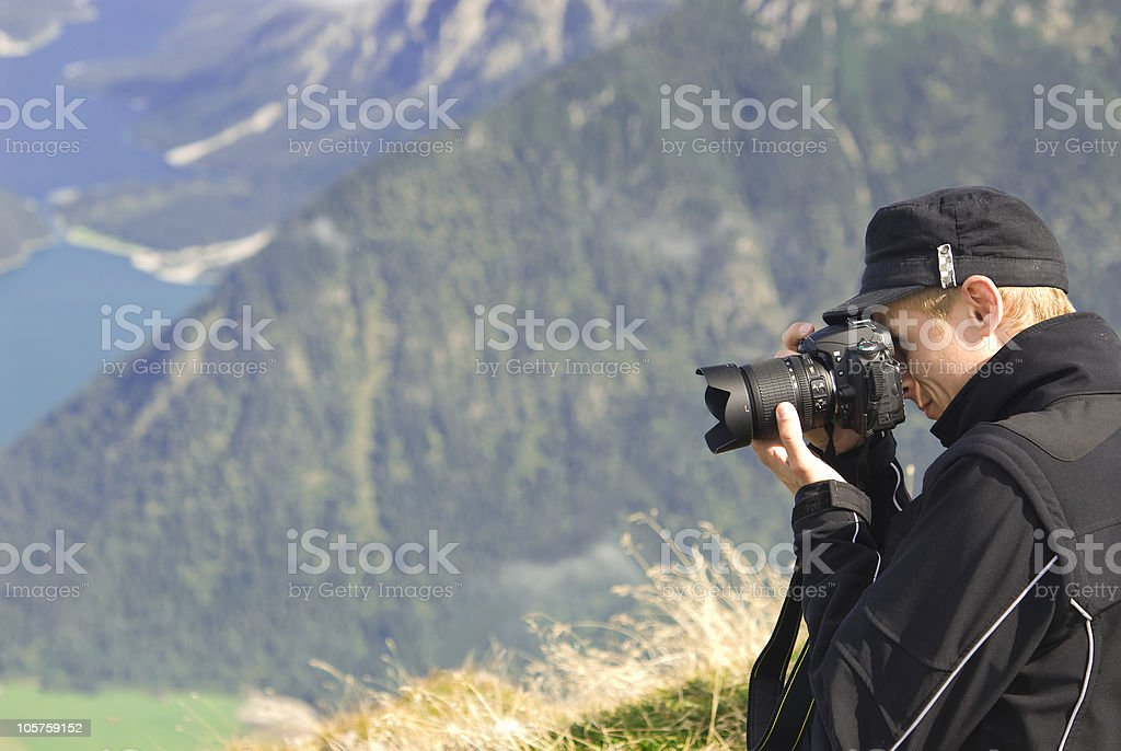 Mountain Peak Shooting royalty-free stock photo