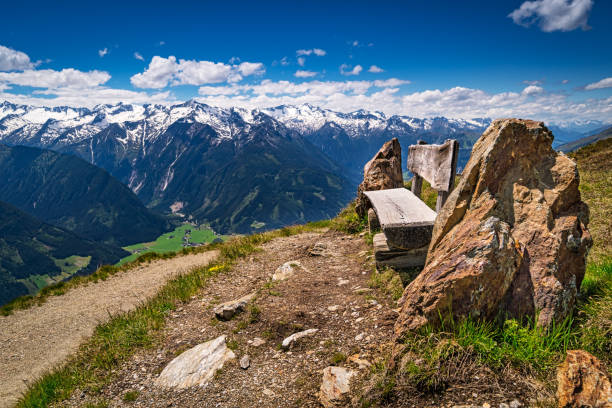Mountain Peak With Clouds stock photo