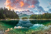 Garmisch-Partenkirchen, Bavaria, Europe, Germany, Relief Map