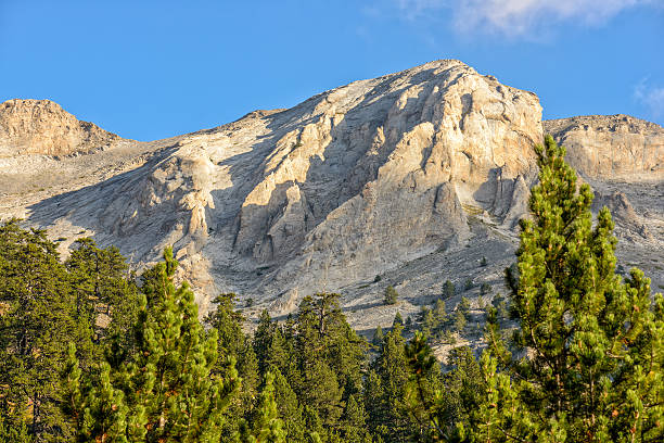 Mountain peaks of Olympus ridge in Greece stock photo