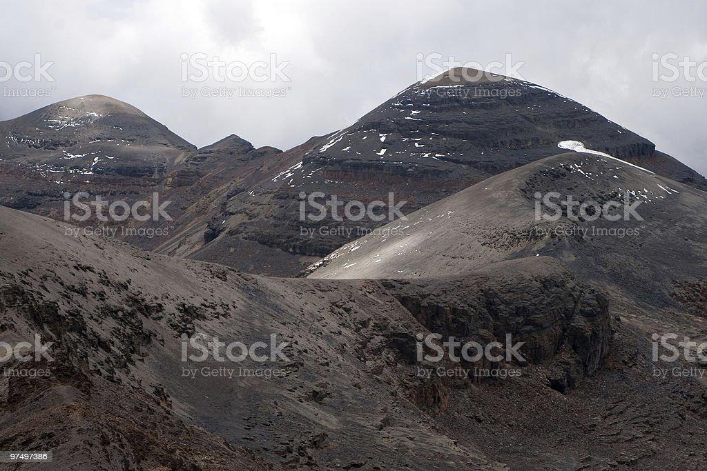 Mountain peaks on Chacaltaya royalty-free stock photo