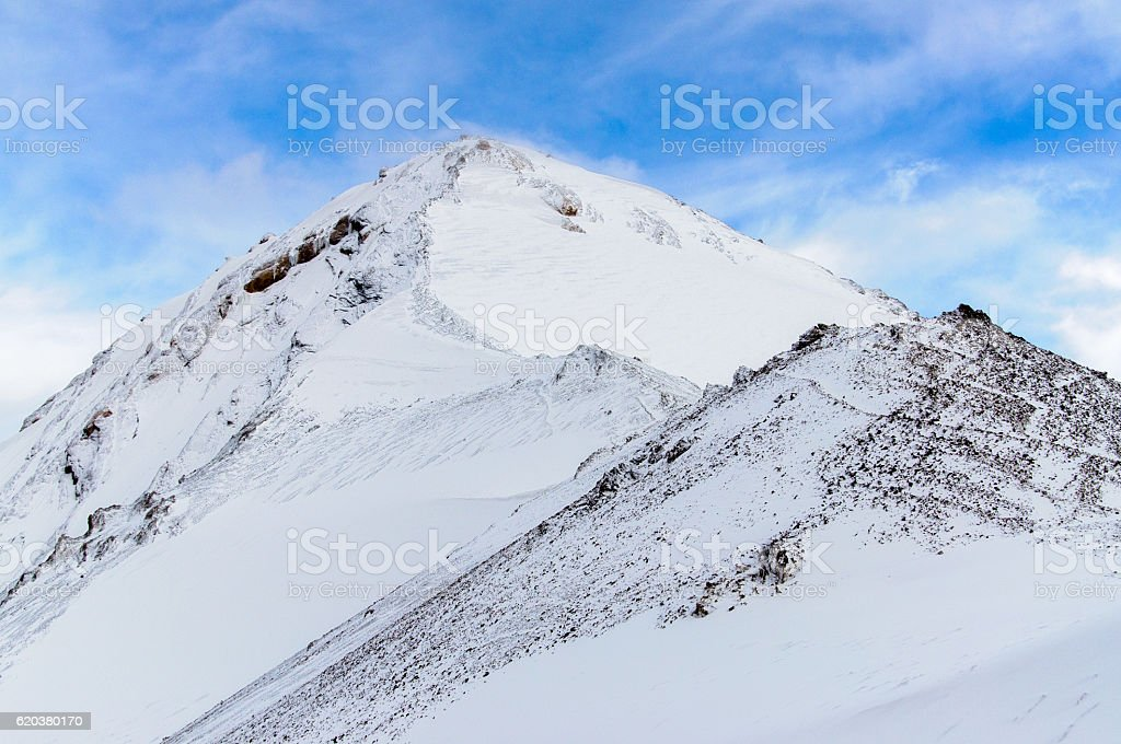 mountain peaks with glacier foto de stock royalty-free