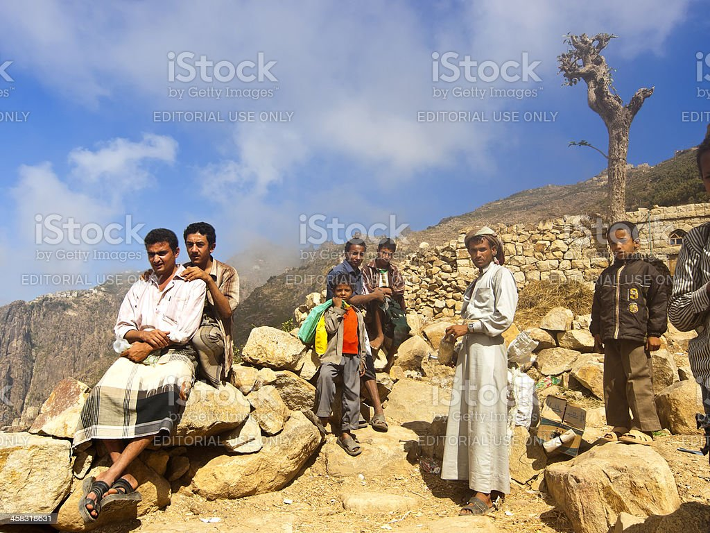 Mountain people stock photo