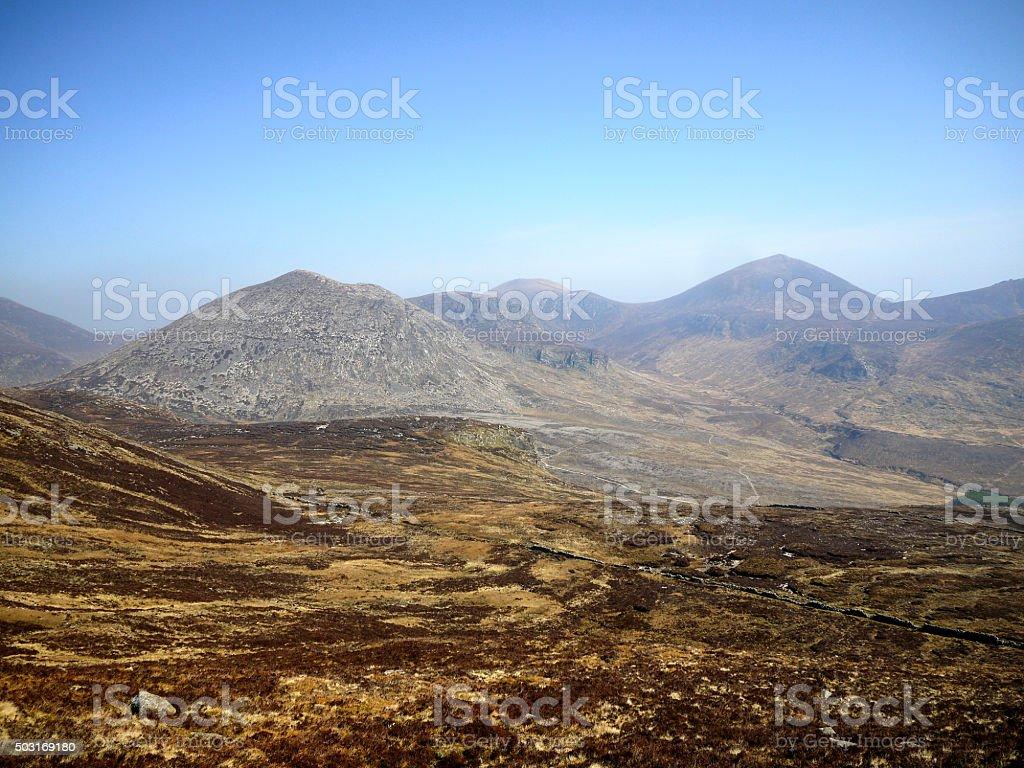 Mountain Plain in the Mourne Mountains stock photo