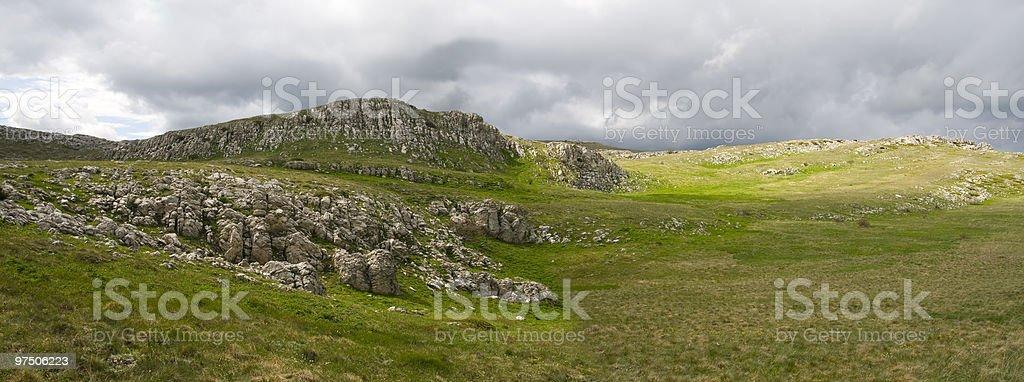 mountain plateau in Crimea royalty-free stock photo