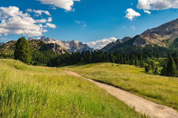 Mountain plateau Prato Piazza, Lavaredo National Park, Dolomites, European Alps, Italy,Europe stock photo