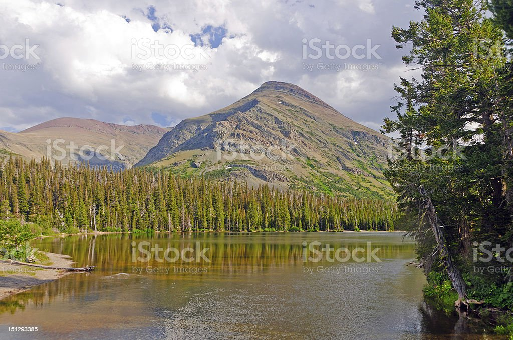 Mountain Pond on a Summer Afternoon royalty-free stock photo