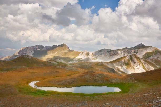Mountain pond stock photo