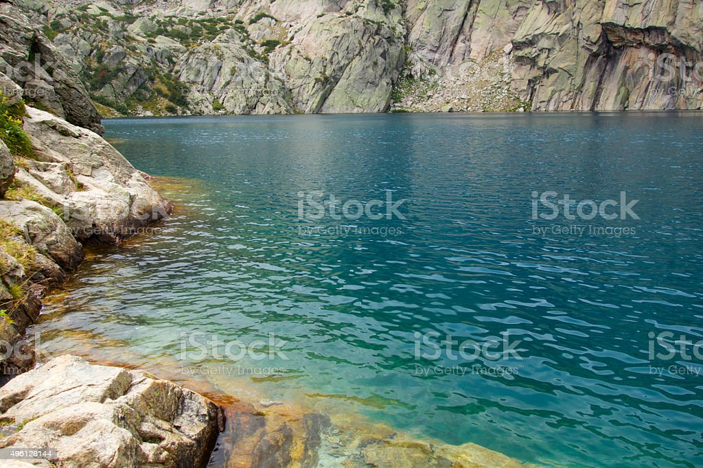 Mountain pond stock photo