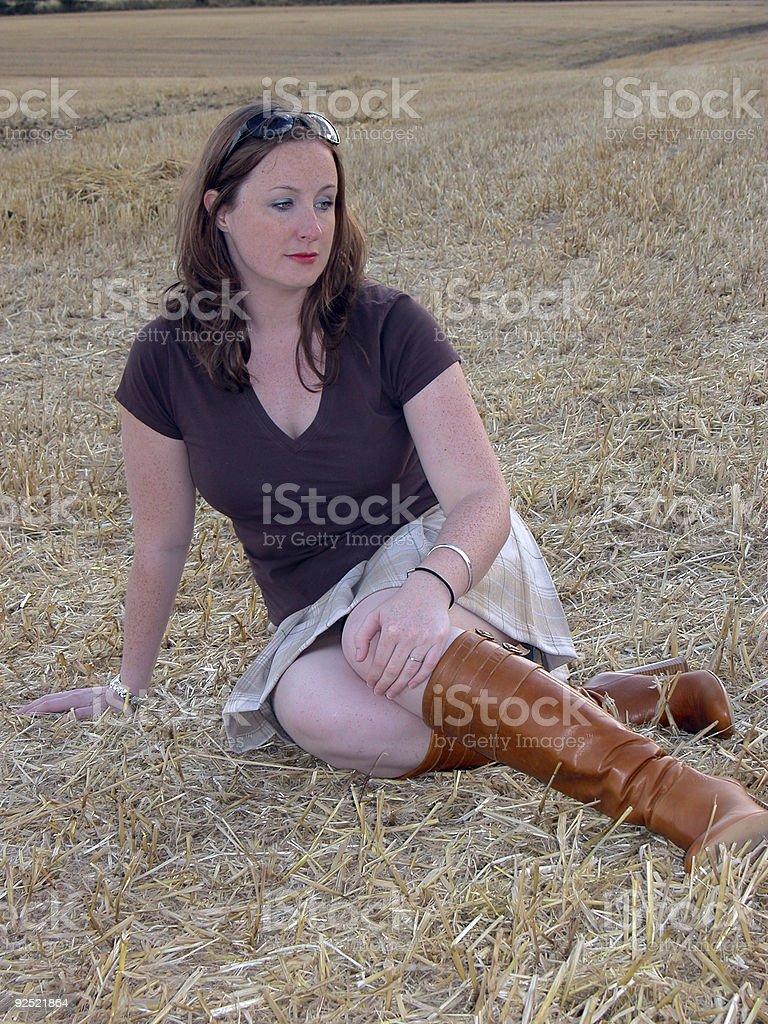 Mountain Prairie Girl stock photo