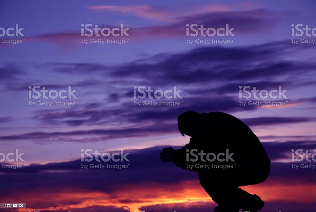 Mountain Prayer royalty-free stock photo