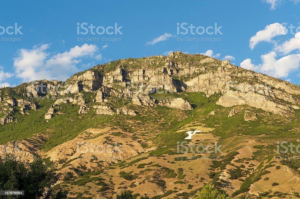 Y mountain Provo. Utah royalty-free stock photo