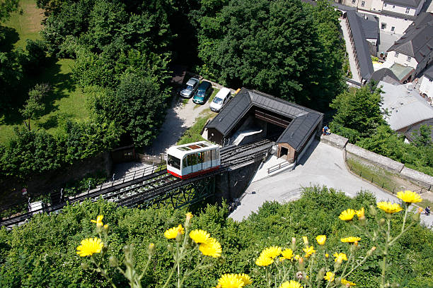"""Mountain railway """"Hohensalzburg"""" stock photo"""
