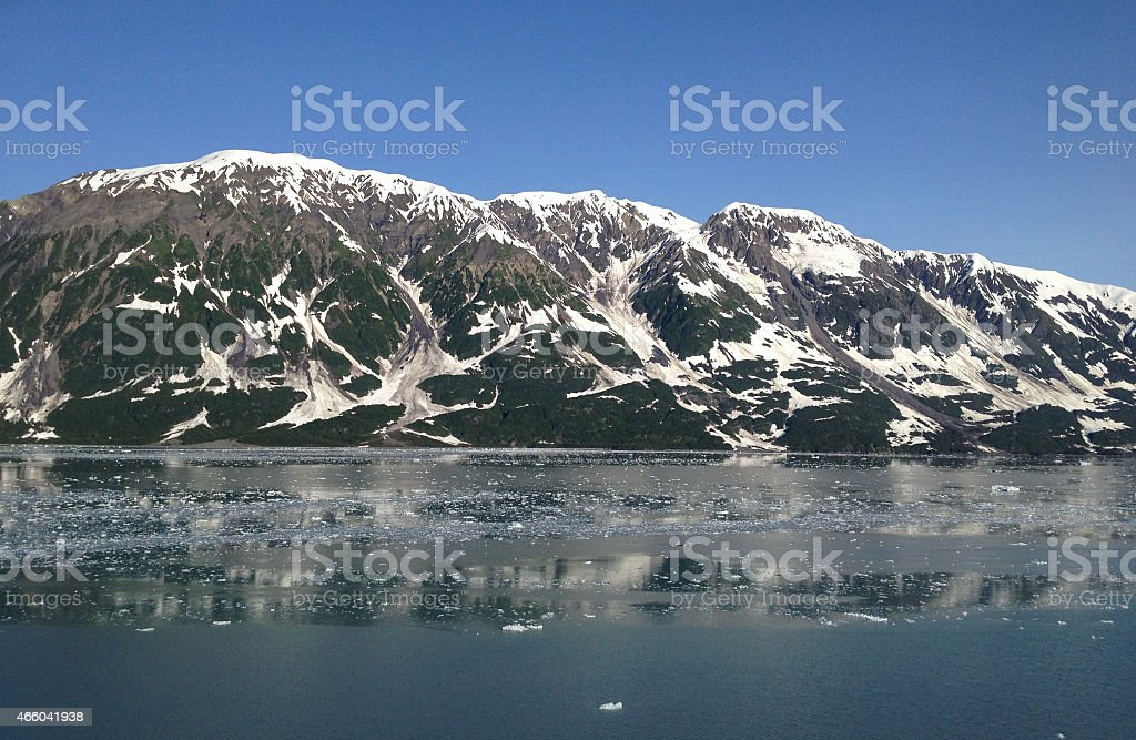 Mountain Range at Disenchantment Bay royalty-free stock photo