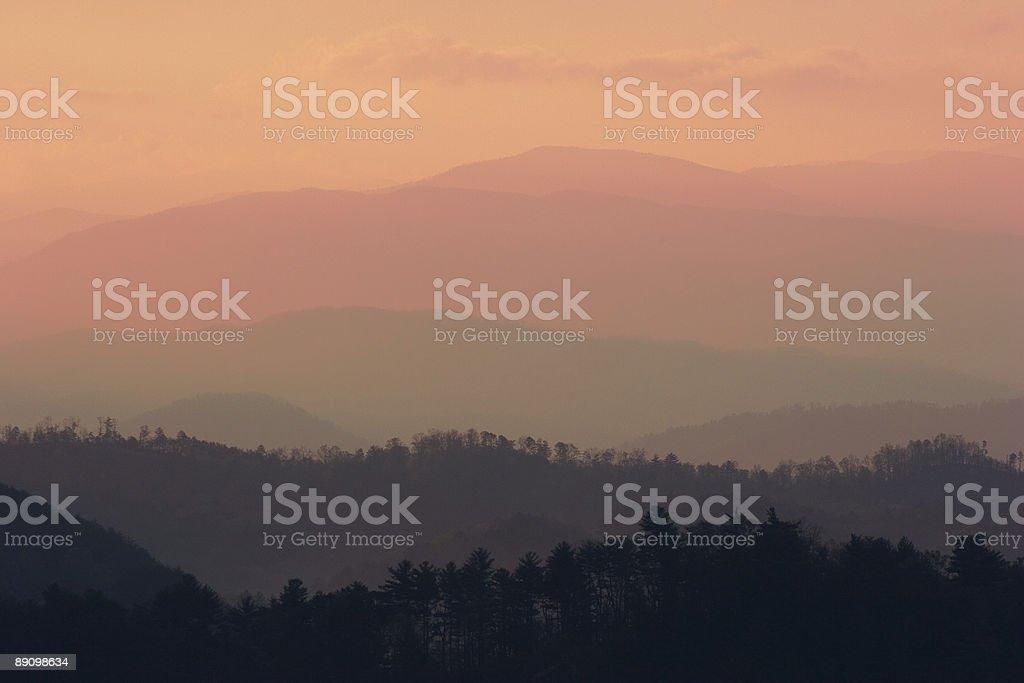 Mountain Range at Sunrise royalty-free stock photo