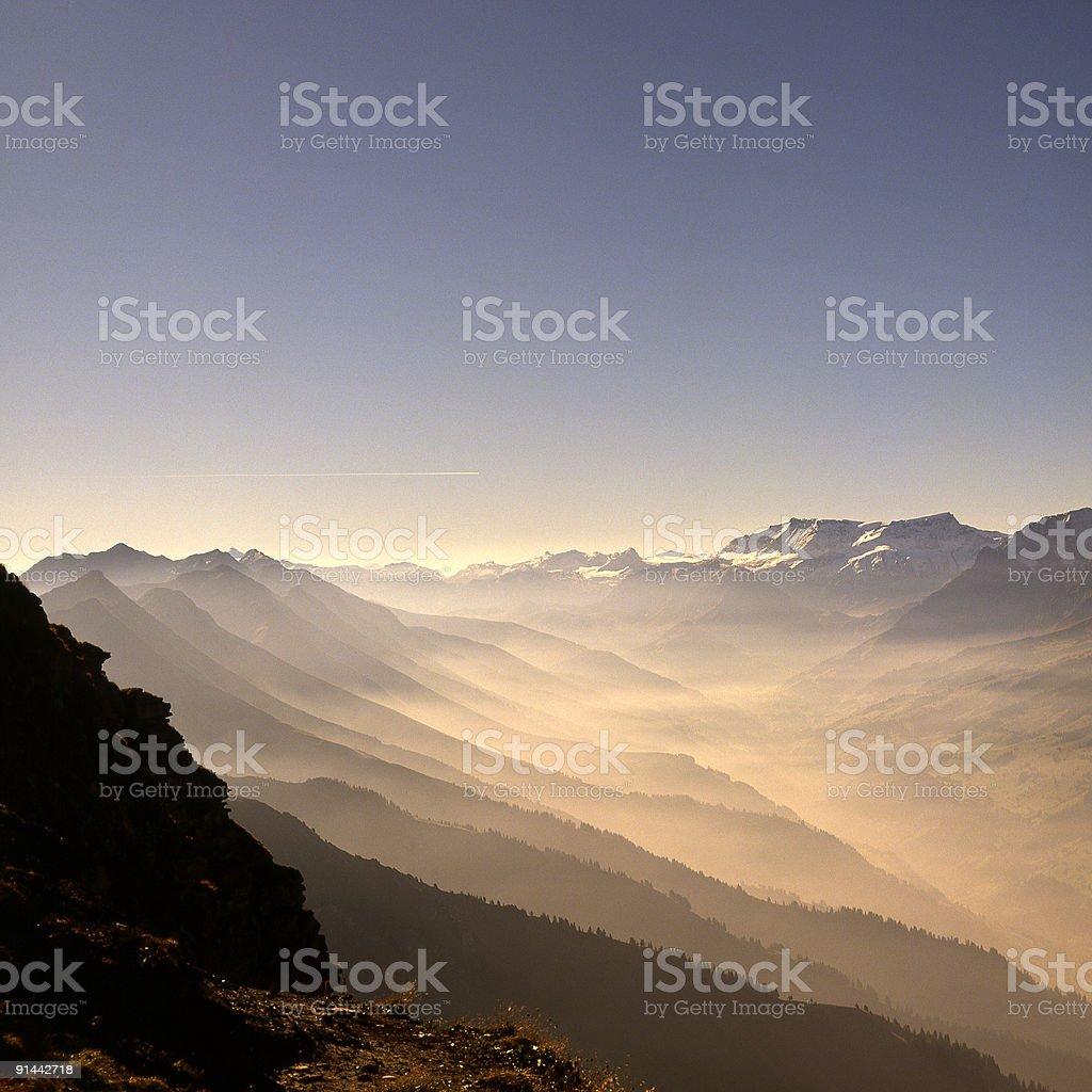 Mountain range from Niesen Kuln, Switzerland royalty-free stock photo