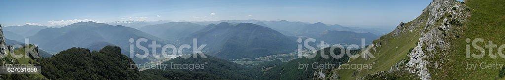 Mountain range from Nistos, France stock photo