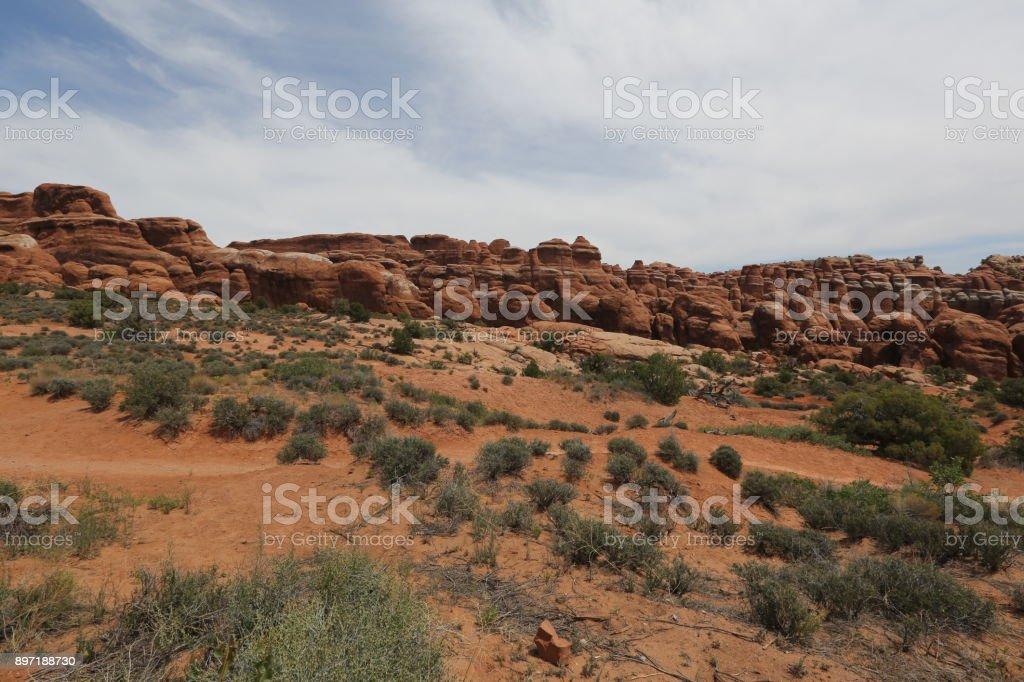 Mountain range in Grand canyon stock photo