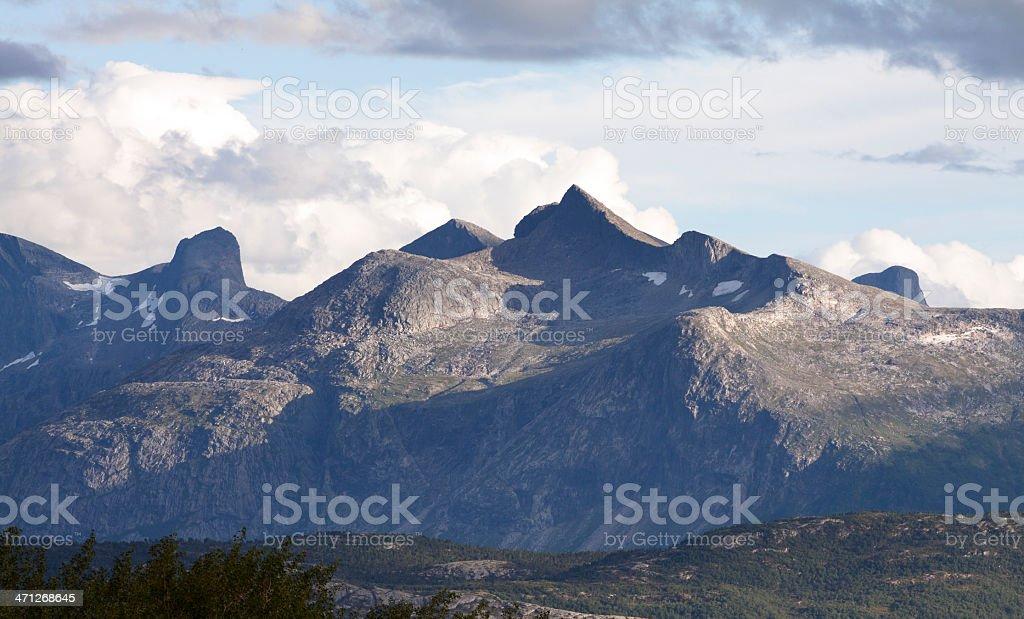 Mountain range in Northern Norway royalty-free stock photo