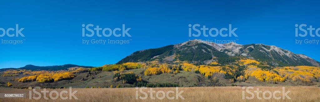 Mountain range near Gunnison County Colorado stock photo