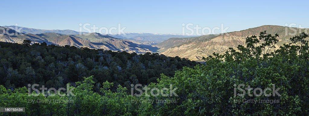 Mountain Range Pano Landscape royalty-free stock photo