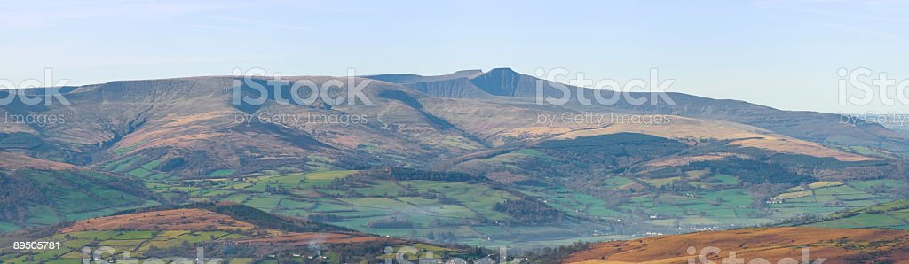 Mountain range panorama royalty-free stock photo