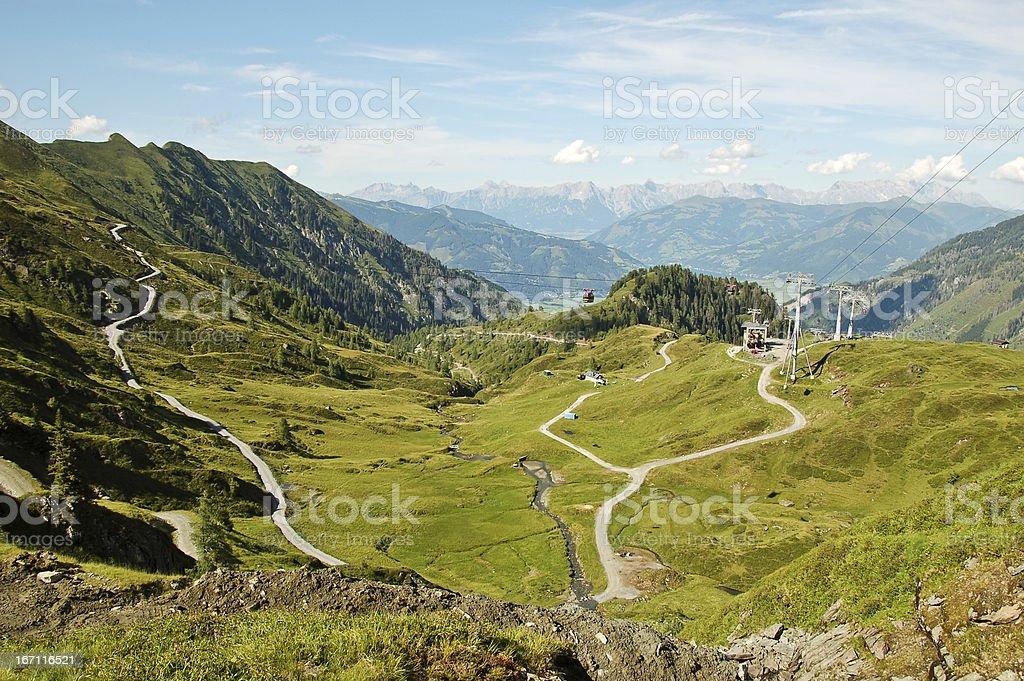 Mountain range scenery royalty-free stock photo