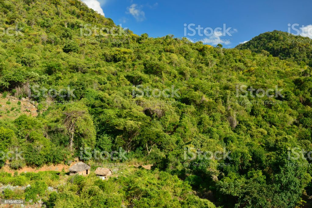 Mountain range Sierra Maestra on Cuba stock photo