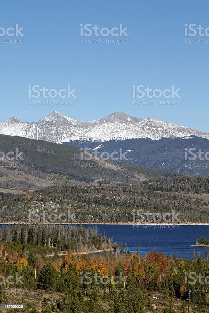 Mountain range Summit County Colorado royalty-free stock photo