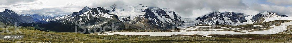 Mountain range views from Wilcox pass stock photo