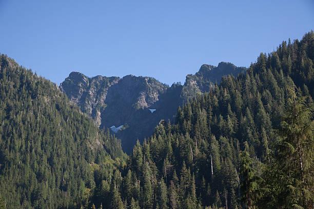 mountain range Washington State stock photo