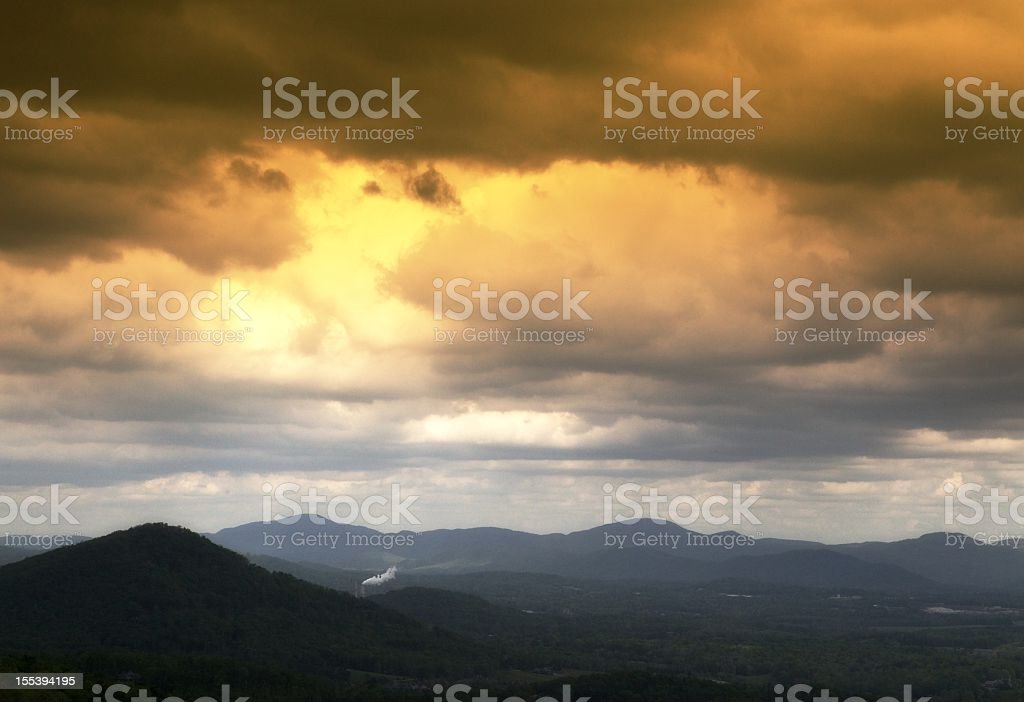 Mountain range with cloudy sky. royalty-free stock photo