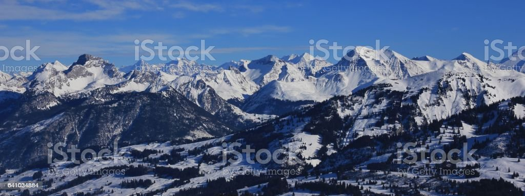 Mountain ranges in the Bernese Oberland stock photo