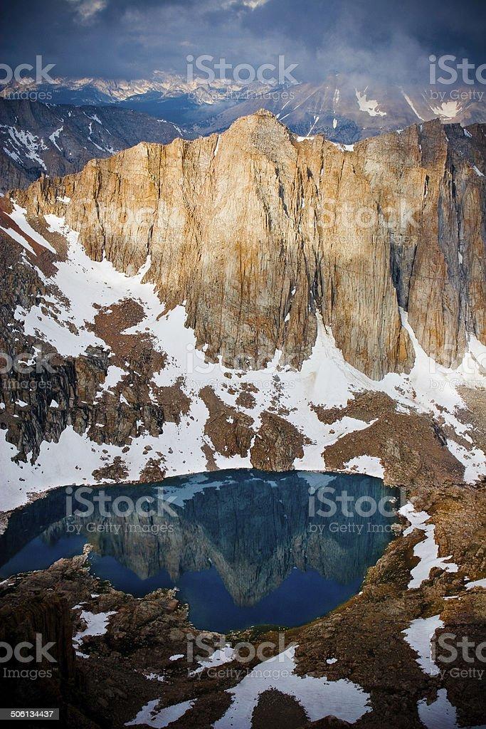 Mountain Reflection In Lake stock photo