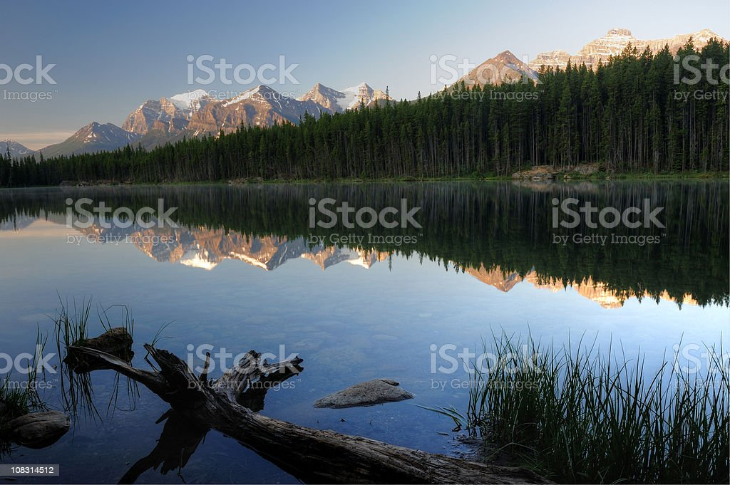 Mountain Reflection in the Canadian Rockies royalty-free stock photo