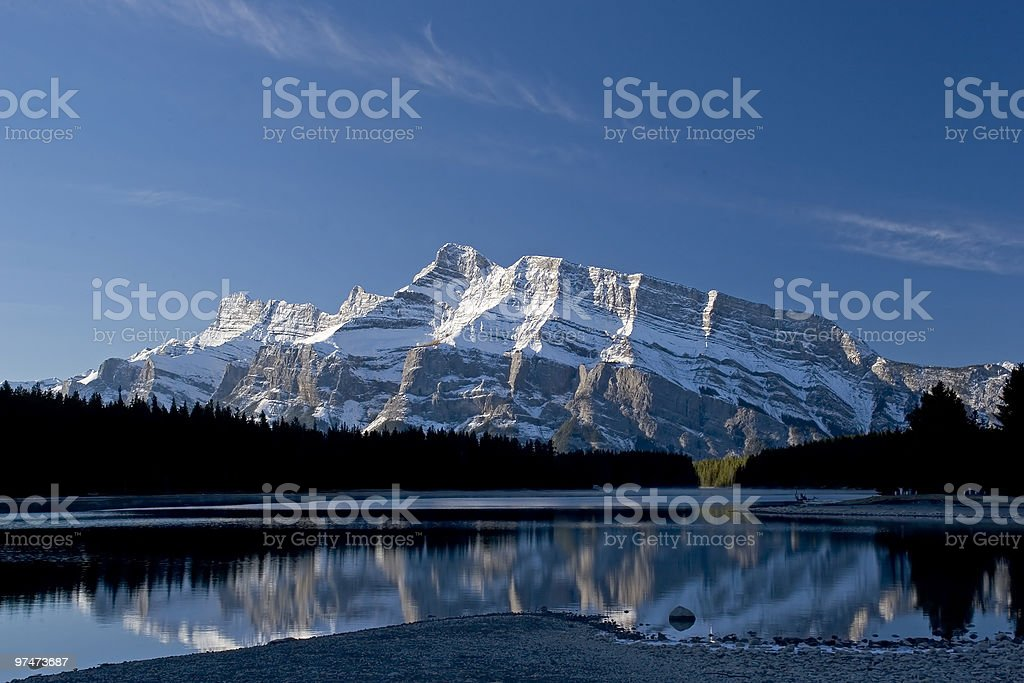 Mountain Reflection royalty-free stock photo
