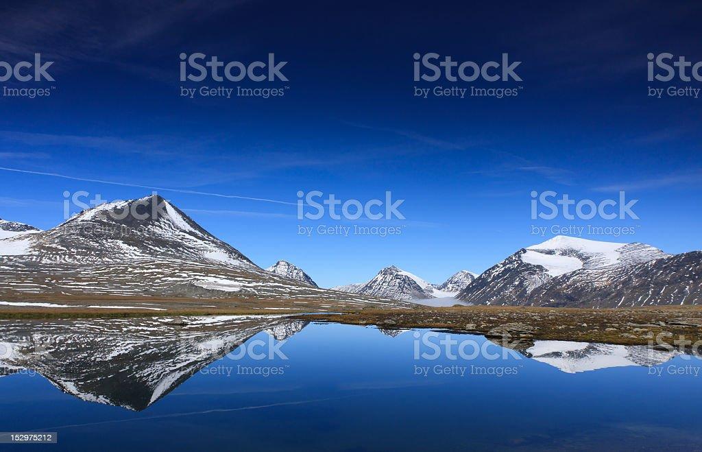 Mountain reflections royalty-free stock photo