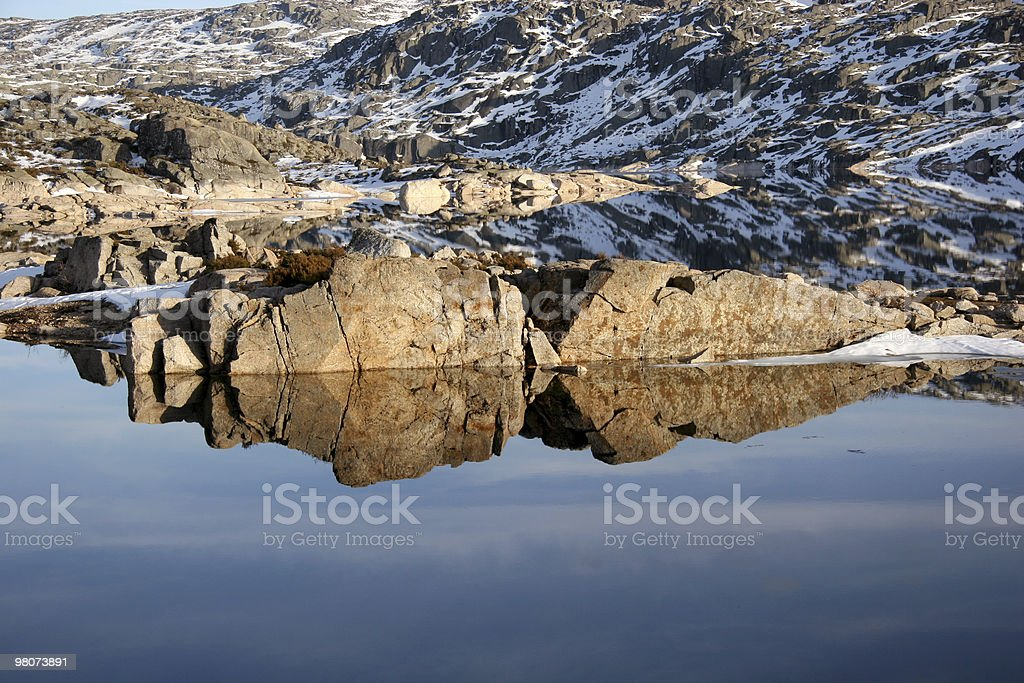 Mountain Reflex royalty-free stock photo
