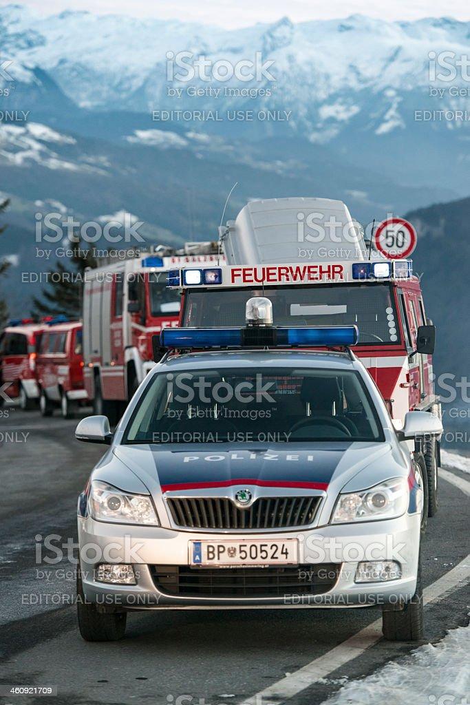 mountain rescue stock photo
