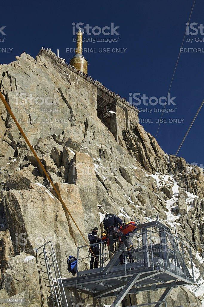 Mountain rescue team royalty-free stock photo