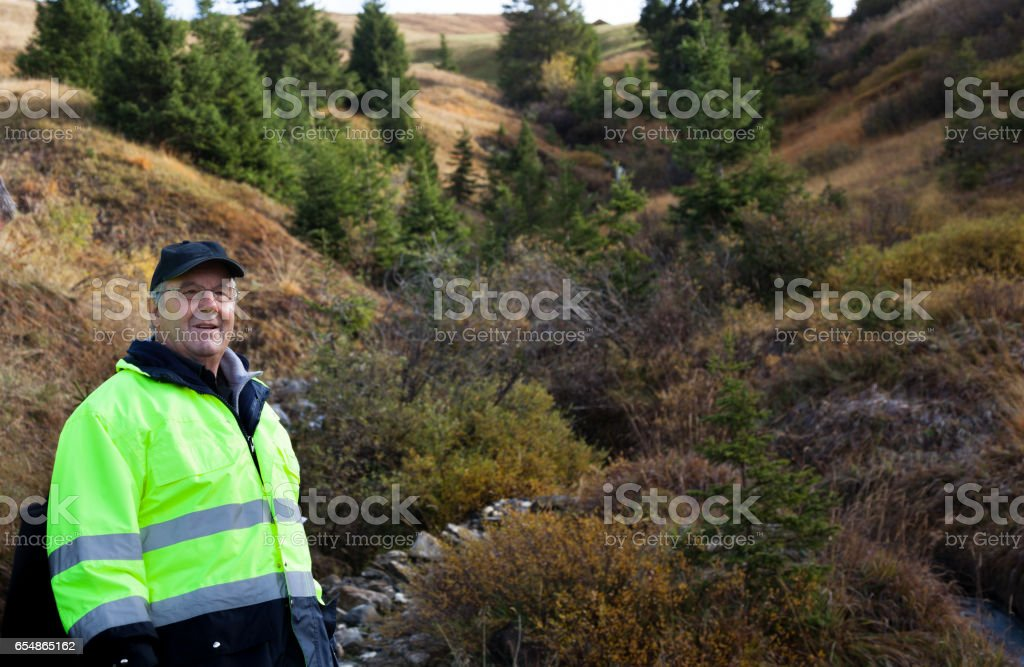 ambulance staff of the Forest Rescue - autumn in Lenk, Simmental,...