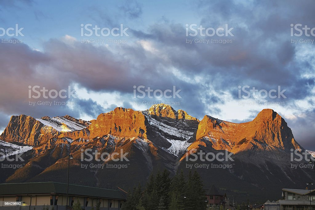 Mountain reserve Banff royalty-free stock photo