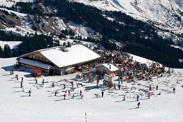 Mountain restaurant. stock photo